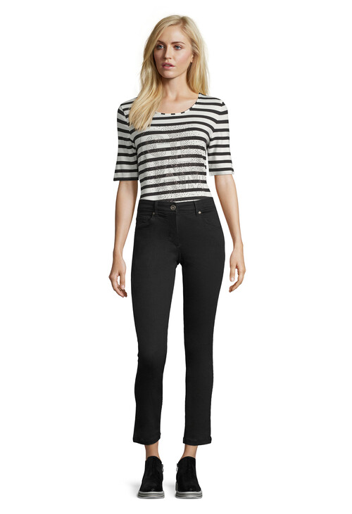 Betty Barclay Black Slim Fit Stretch Trousers