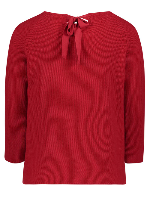 Betty Barclay Red Pullover with Bow Detail