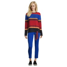 Betty Barclay Striped Pullover with Ribbon Detail