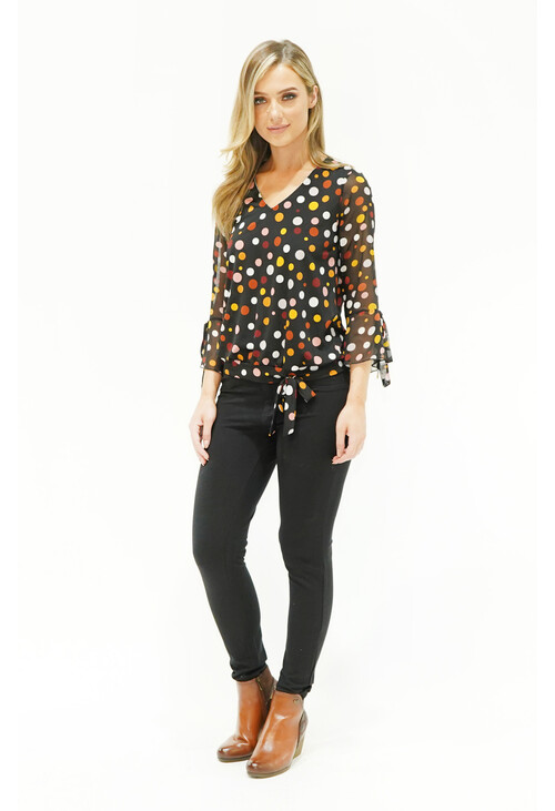Sophie B BLACK POLKA DOT TOP