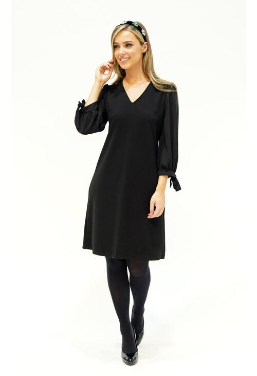 Pamela Scott Tie Sleeve Dress