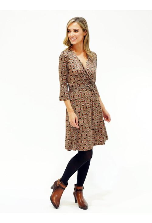 Sophie B Swirl Pattern Print Dress