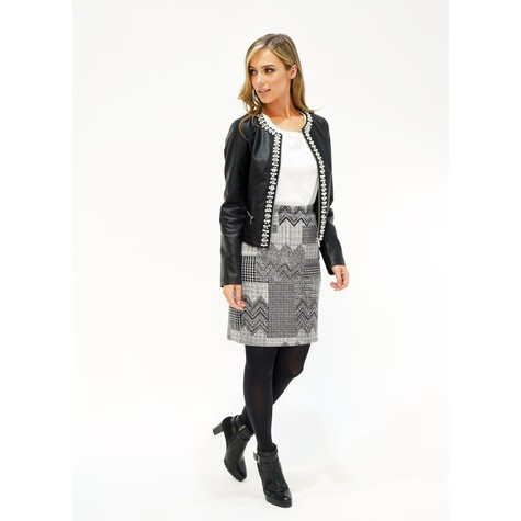 Zapara Grey/Black Skirt