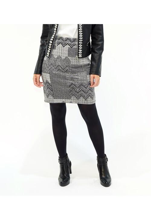 Zapara Grey/Black Skirt