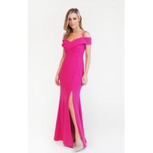 R and M Richard Fushia Pink Scuba Neck Dress