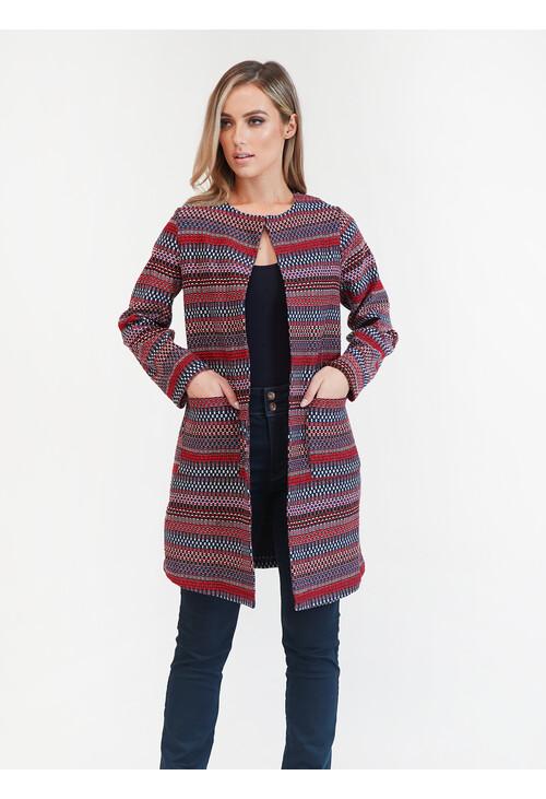 Sophie B Blue/Red Aztec Jacket