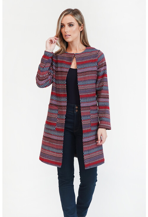 Sophie B Blue/Red Aztec Jacket