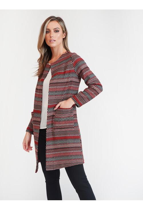 Sophie B Rust Aztec Jacket
