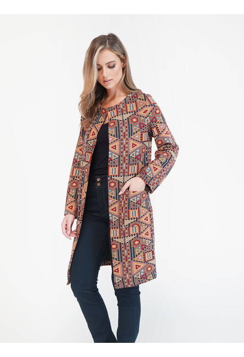 Sophie B Navy/Gold Aztec Jacket