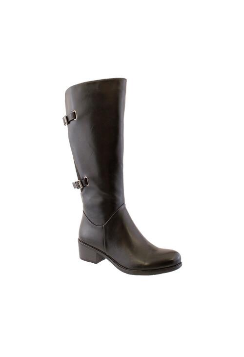 Susst Black Full Length Riding Boot