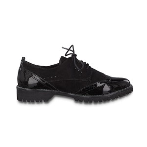 Jana Black Patent Laced Brogue