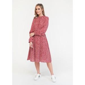 Pamela Scott  Printed Gathered Waist Dress