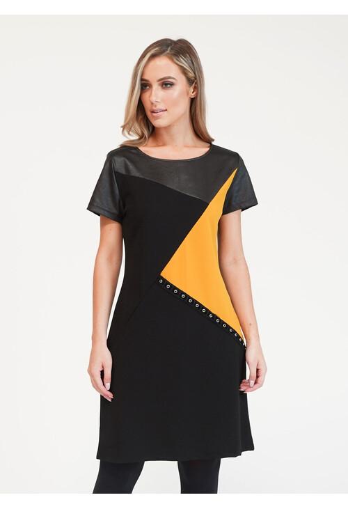 Zapara Asymmetrical Paneled Dress