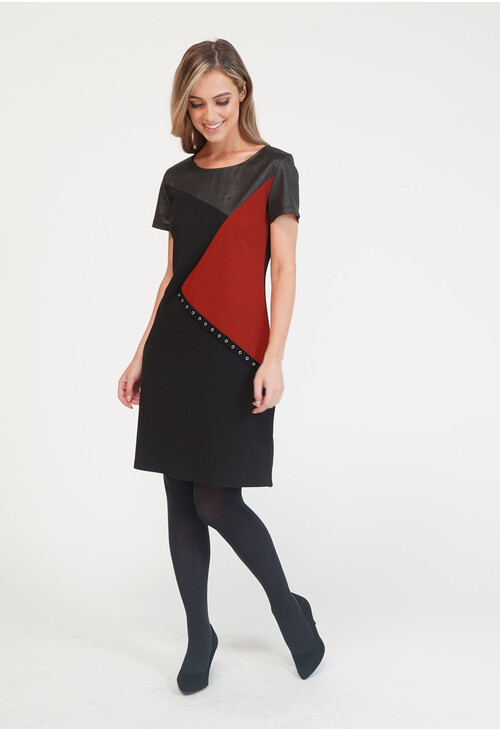 Zapara Zapara Asymmetrical Paneled Dress