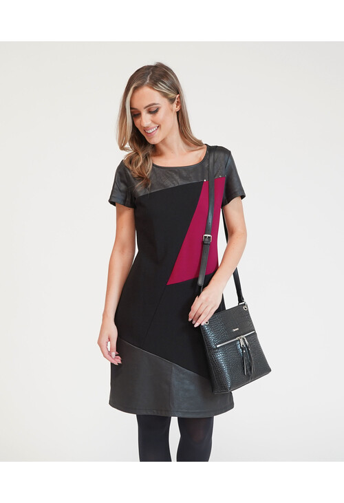 Zapara Asymmetrical Paneled Dress