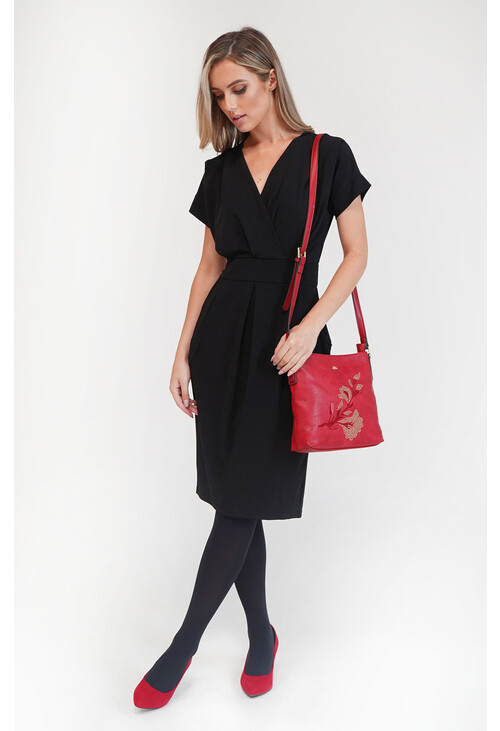 Zapara Black Pockets Dress