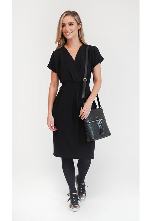 Zapara Black Pockets Dress
