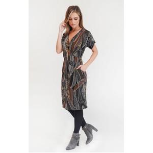 Zapara Leaf Design Dress