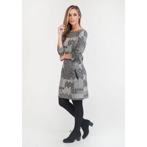 Zapara Printed Long Sleeve Knit Shift Dress