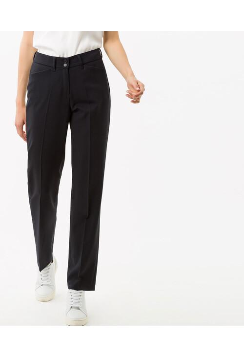 Brax Celine Navy Reg Leg Trousers (32 Inch)