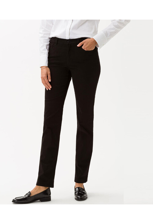 Brax Mary Black Five-Pocket Winter Trousers