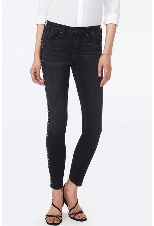 NYDJ Ami Skinny Jeans With Studded Side Seams