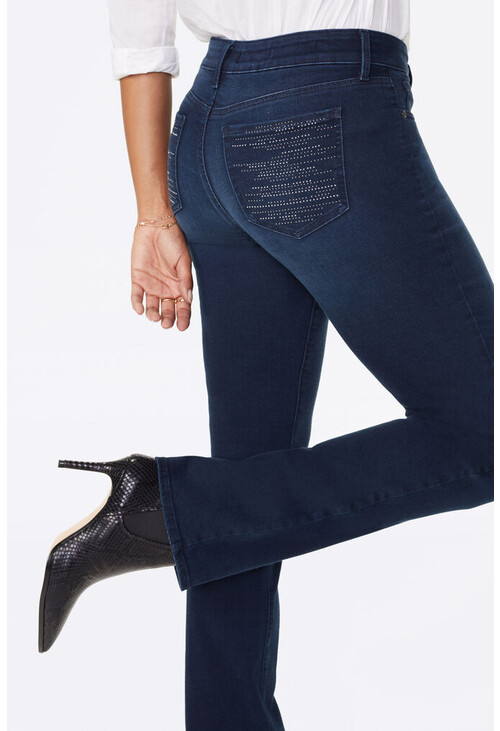 NYDJ Marilyn Straight Jeans With Cityscape Pocket