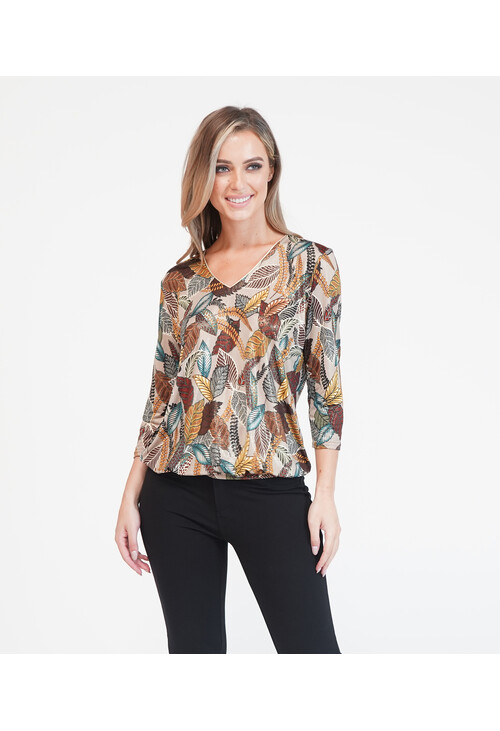 Zapara Gold Pattern Top