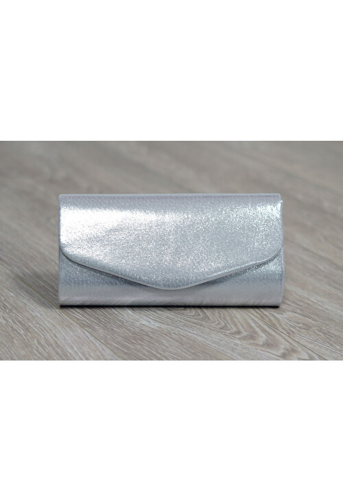 Pamela Scott Silver Metallic Clutch