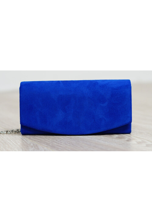 Pamela Scott Blue Faux Suede Clutch