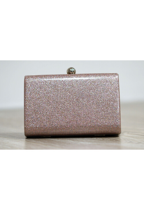Pamela Scott Pale Pink Sparkle Clutch