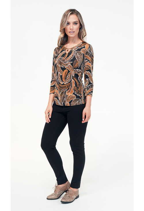 Sophie B Leaf Print Top
