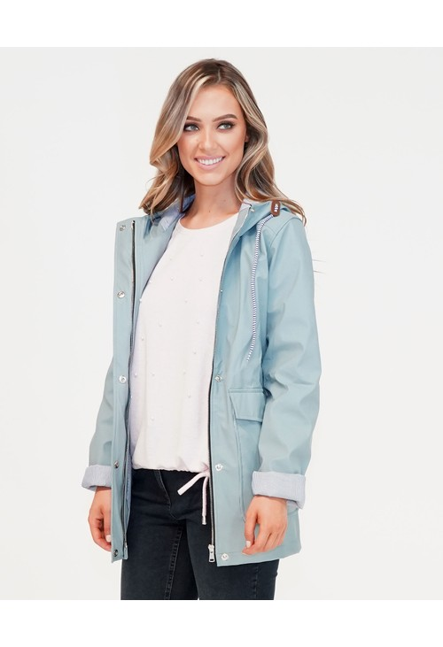 Pamela Scott Grey Raincoat