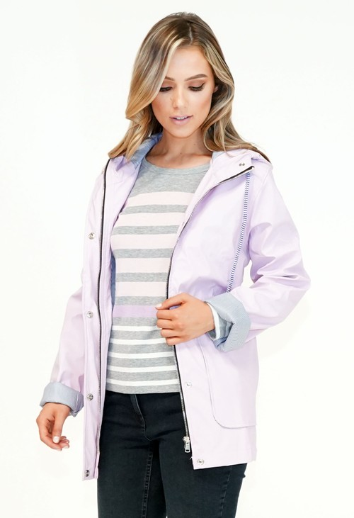 Pamela Scott Lilac Raincoat