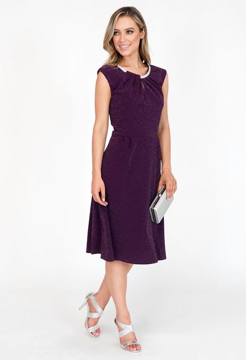 Pamela Scott Purple Sparkle Diamante Detail Dress