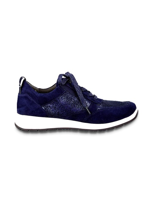 Jana Blue Lace Up Trainer