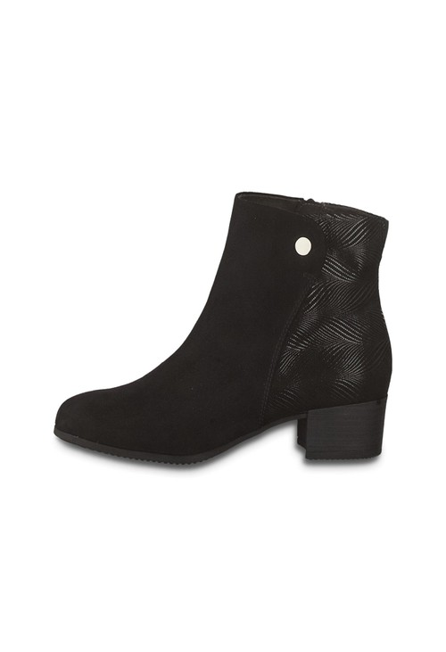 Jana Black Multi tone Ankle Boot