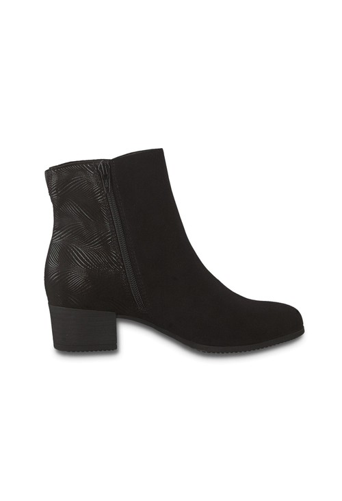 Jana Black Multi tone Ankle Boot