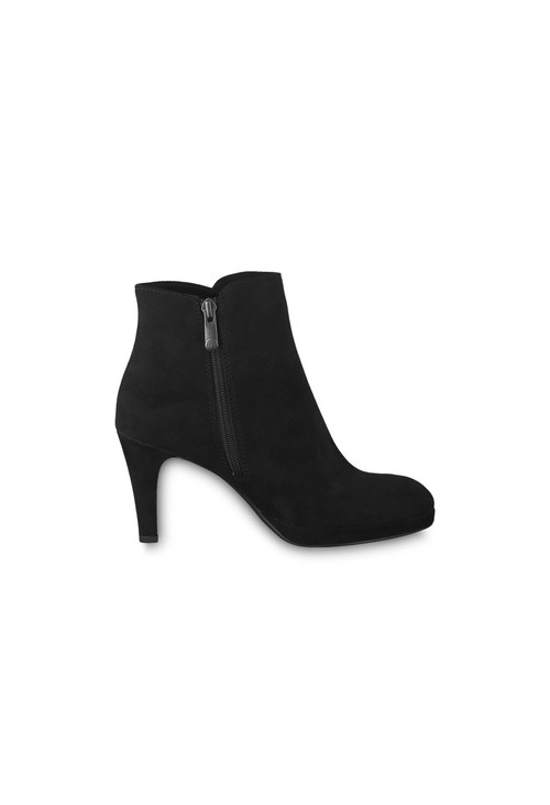 Marco Tozzi Black Suede Effect Glam Boot