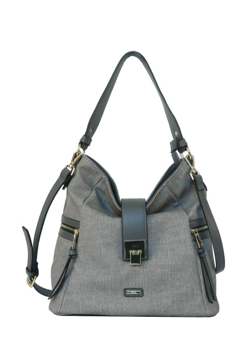 Gionni Grey Soft Hobo Bag
