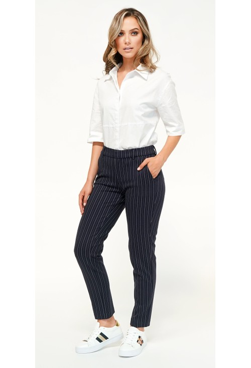 Liverpool White Stripe Trousers