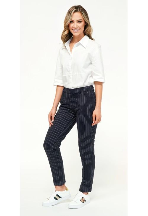 Liverpool White Stripe Trousers