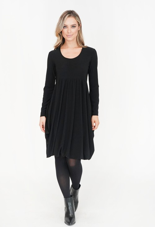 Pamela Scott Black Drape Dress