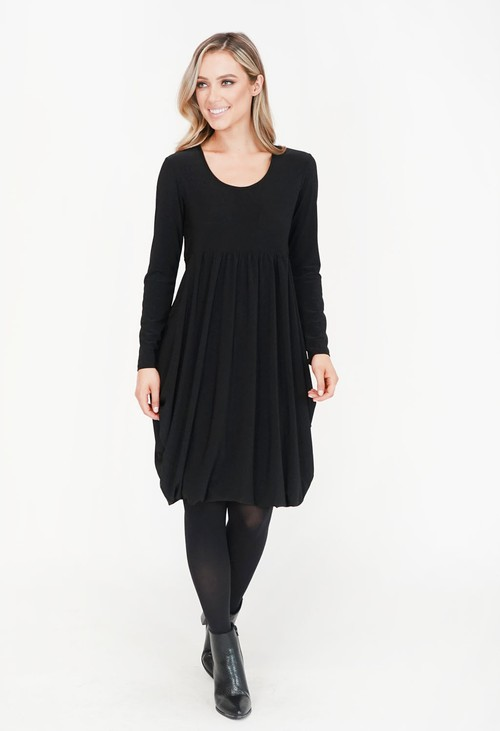 Pamela Scott Black Drape Dress