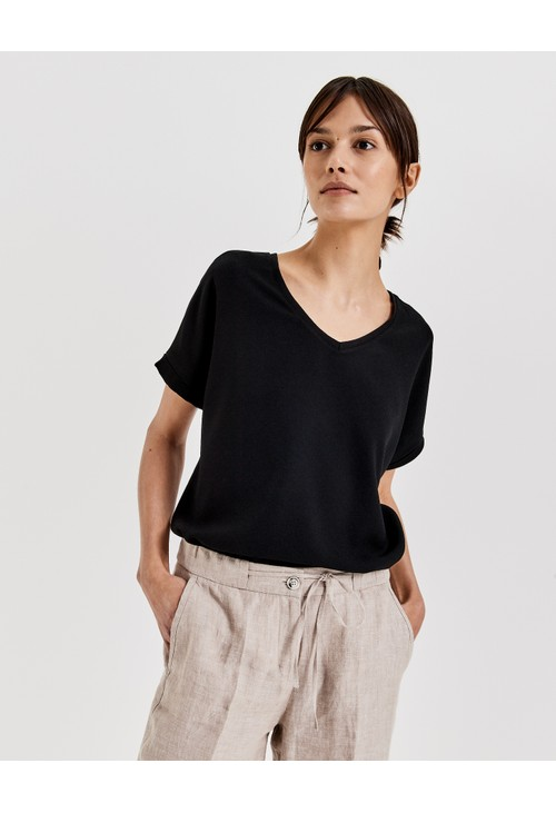 Opus T Shirt with V-neck Suminchen