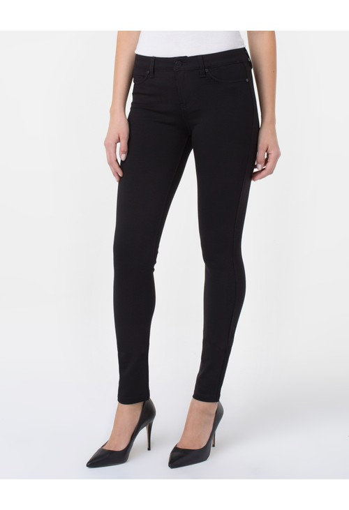 Liverpool Black Plain Legging Trousers