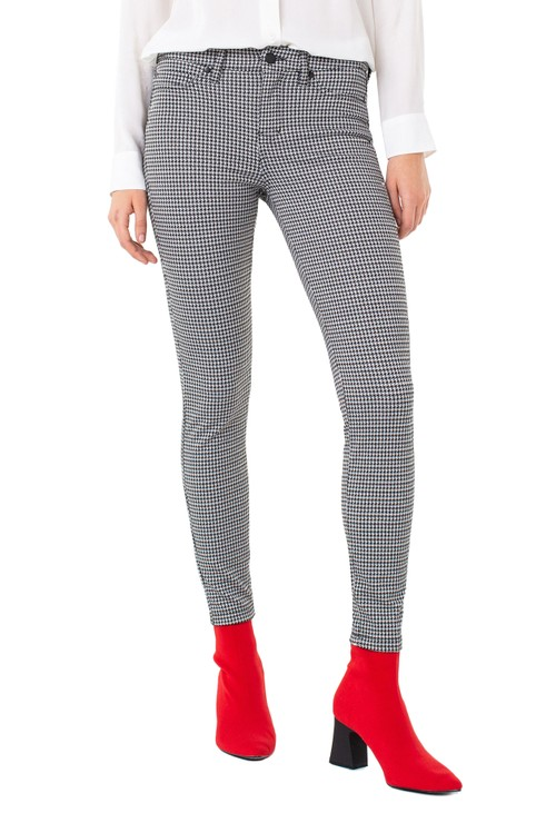 Liverpool Cream & Black Houndstooth Leggings