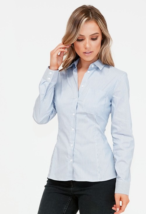 Twist Blue and White Stripe Shirt