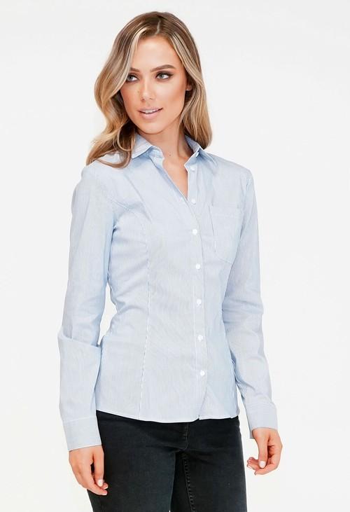 Twist Blue and White Stripe Shirt
