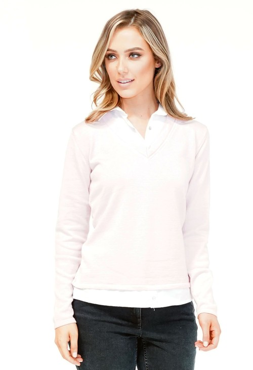 Twist Pink 2 in 1 Pullover